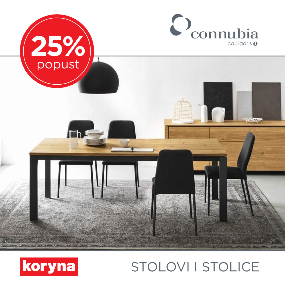 Stolovi i stolice Connubia by Calligaris i MIDJ Italia na 25% popusta
