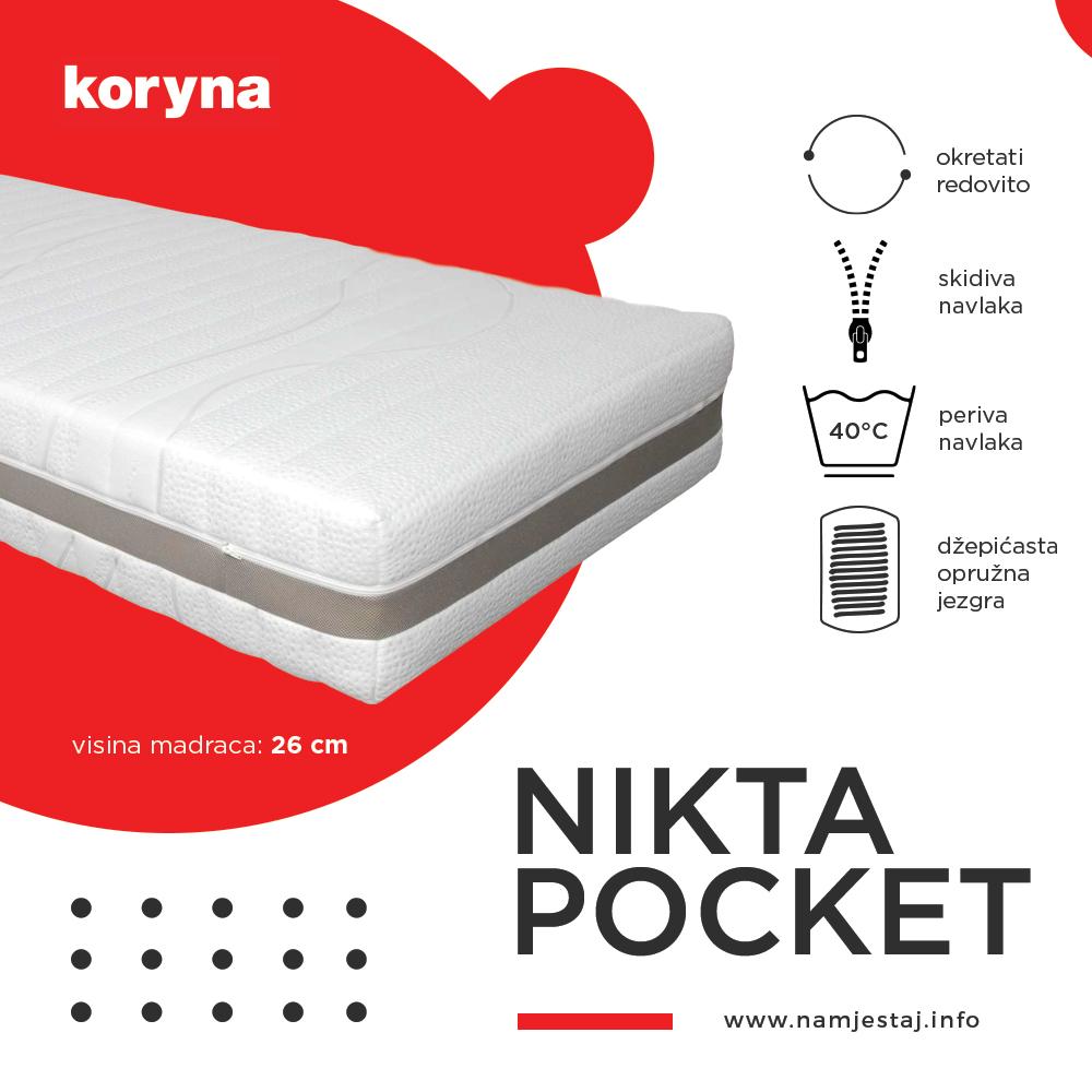 Nikta Pocket madrac Koryna Namještaj