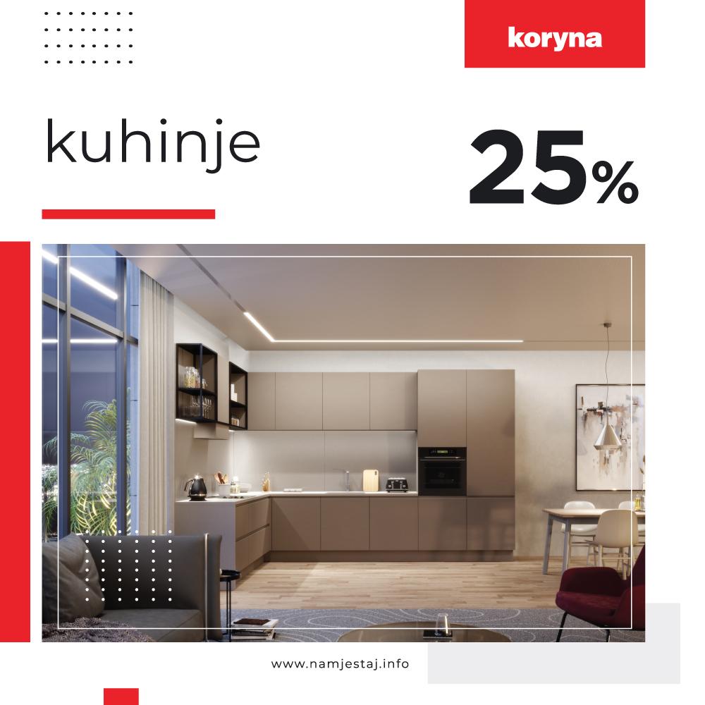 25% popusta na kuhinje po mjeri